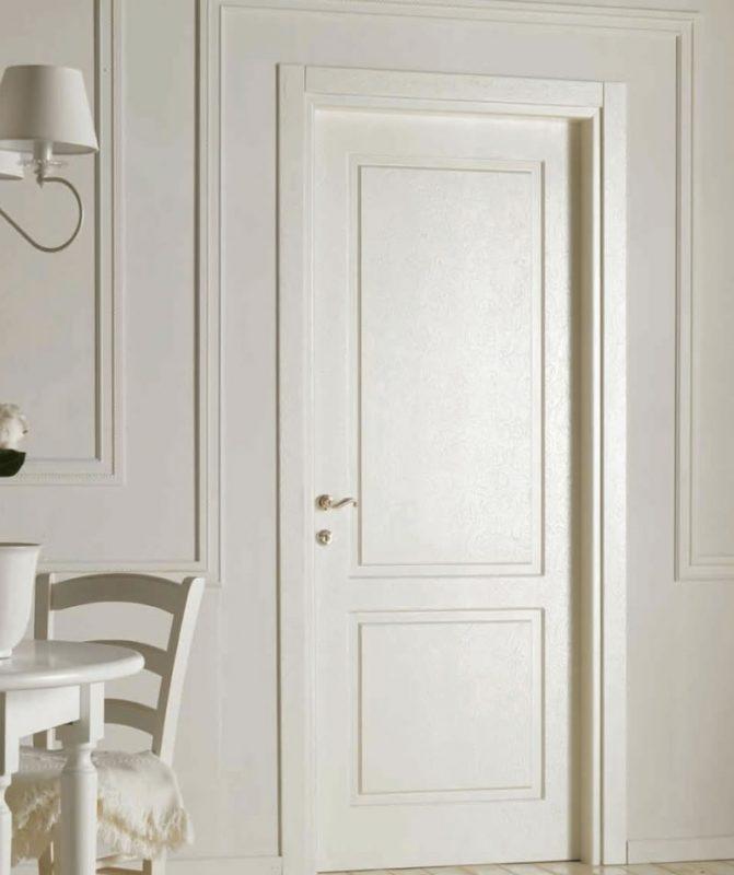 2 panel classic white interior door_raised panel