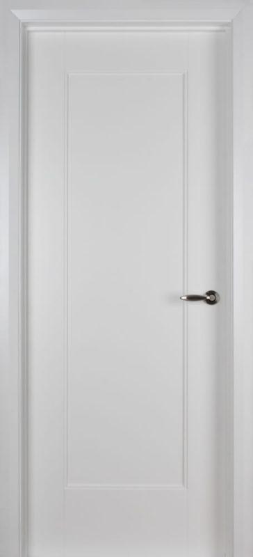 White single plain panel door