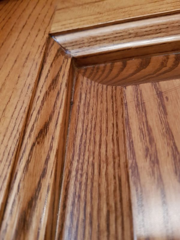 routered edge + panel detail